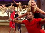 Nobody puts Kelly in a corner! Michael Strahan gives Ms Ripa the Dirty Dancing lift as the pair show off aerobic skills on Live!