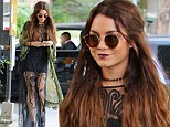 Vanessa Hudgens wearing both Gothic and Bohemian style while out shopping
