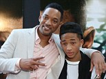 Just the two of us: Will Smith posed for photos with his son Jayden at the After Earth event at Miami Science Museum