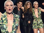 Jessie J sang on American Idol Thursday with Adam Lambert and Angie Miller