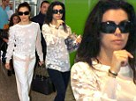 Faster than a speeding bullet! Eva Longoria transforms in airport from comfy traveller to glamour girl as she arrives for Cannes Film Festival
