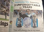 Classy: Roberto Mancini took out this full page advert to hail Manchester City fans