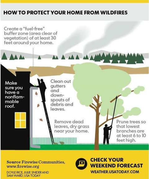 Photo: The USA TODAY weather graphic this weekend shows how you can  keep your home safe from wildfire using NFPA's Firewise Communities Program information! Take a look!