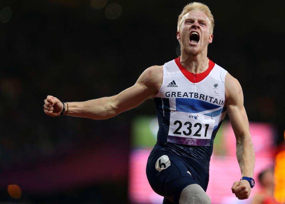 Photo: Jonnie Peacock (GBR) is the men's 100m - T44 champion! Here's the moment he knew he'd done it http://l2012.cm/NP0zKv