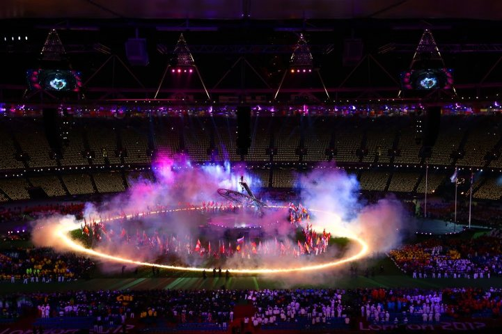 Photo: The Paralympic Games Closing Ceremony is in full swing! Enjoying the show? http://l2012.cm/OvOsey