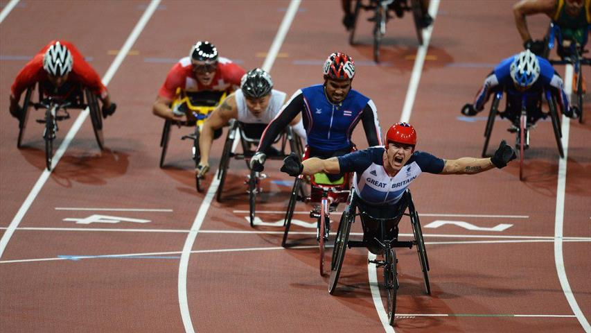 Photo: It's a double gold for ParalympicsGB's David Weir, as he roars over the finish line in the 1500m - T54 final. That's got to be worth a like! http://l2012.cm/QjD7TL