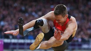 Photo: Markus Rehm of Germany on his way to a new world record and a gold medal in the Men's Long Jump - F42/44 Final. (Getty Images)