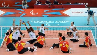 Photo: Action from the men's Sitting Volleyball preliminary in ExCeL as Brazil take on China on Day 6 of the London 2012 Paralympic Games (Getty Images)