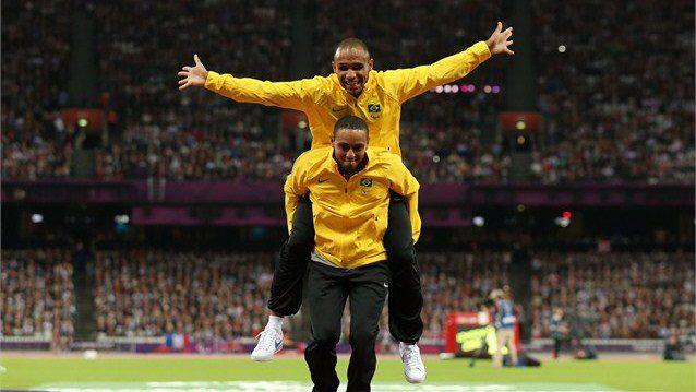 Photo: It's the biggest day of Paralympic sport today with 65 gold medals! We love this celebration by Felipe Gomes of Brazil and his guide Leonardo Souza Lopes - enjoying their moment on the podium after winning the men's 200m - T11 http://l2012.cm/TWSMa3