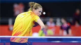 Photo: Natalia Partyka serves during her 3-0 victory over Umran Ertis in a women's class 10 singles match at ExCeL (Getty Images)