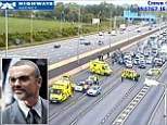 George Michael was involved in a crash on the M1