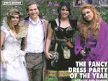 Fergie wore a purple dressing gown and fairy lights at the wedding of Sam Branson