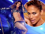 Abs-olutely fierce! Jennifer Lopez defies age (and gravity) with a perfectly toned tummy as she soars through the air in her new music video for Live It Up