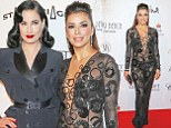 Eva Longoria shows she's got her underwear on this time in sexy sheer dress as her Global Gift Gala comes to Cannes