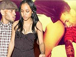 Bottoms up! Chris Brown wishes ex Karrueche Tran a happy birthday after she posts image of herself sticking her naked bum in his face