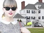 Taylor Swift relaxes with retail therapy... as her Rhode Island home is closely guarded after obsessed fan's attempted trespass