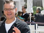 It was a family affair in the South of France on Sunday when Matt Damon united his on- and off-screen lovers!