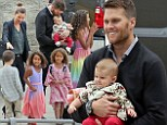 A full family affair: Tom Brady takes wife Gisele Bundchen and gorgeous baby Vivian to his sister's college graduation