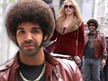 Hey there foxy lady! Drake gets an eyeful of Christina Applegate as he makes a cameo appearance on the set of Anchorman 2