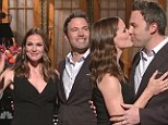 'You're a lot of work': Ben Affleck and Jennifer Garner air their marriage's dirty laundry as Kanye makes a controversial performance on Saturday Night Live
