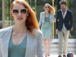 Ooh la la! Jessica Chastain lights up Cannes by linking arms with her gorgeous Italian boyfriend Gian Luca Passi de Preposulo