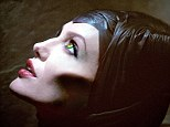 Spellbound: Angelina Jolie in costume as Maleficent, the villainess in a new version of 'Sleeping Beauty'