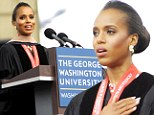 It beats earning one! Kerry Washington given honorary fine arts doctorate by her old university
