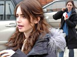 Movie magic! Lily Collins transforms from make-up free girl next door to lovely young starlet on set of Love, Rosie