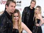 Matching outfits: Avril Lavigne and fiance Chad Kroeger arrived on the red carpet on Sunday at the Billboard Music Awards in Las Vegas wearing all-black outfits