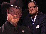 Donald Trump announced the winner live between magician Penn Jillette and country music star Trace Adkins