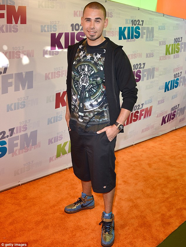 Low key: Musician Afrojack kept things casual as he prepared for a day of fun