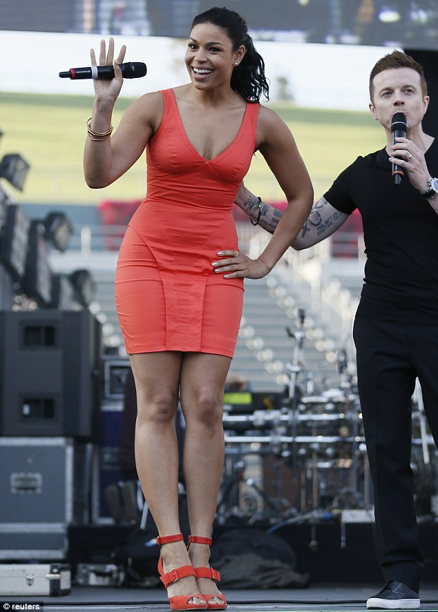 Friendly showing: Recording artist Jordin Sparks offered an introduction to upcoming acts