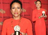 'I'm eight months old today': Robin Roberts receives a standing ovation as she accepts a Peabody Award on the anniversary of her bone marrow transplant
