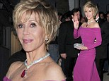 Berry nice! Jane Fonda, 75, dazzles in raspberry gown as she attends Vanity Fair party in Cannes