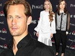 Tall, dark, and handsome: Smoldering Alexander Skarsgard wears all black as he is joined by female co-stars Ellen Page and Brit Marling to screening of The East