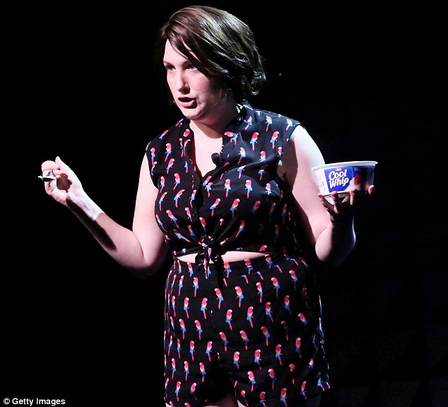 Whipping up the crowd: Comedian Chelsea Davison had them hooting with laughter during her performance
