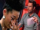 The Voice contender Judith Hill breaks down as mentor Adam Levine tells her to perform song by mentor Michael Jackson