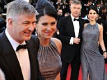 Alec Baldwin and wife Hilaria Baldwin at Cannes
