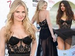 Who wore it better? Jennifer Morrison rocks the same lingerie maxi-gown at the Billboard Music Awards that Selena Gomez donned in her music video