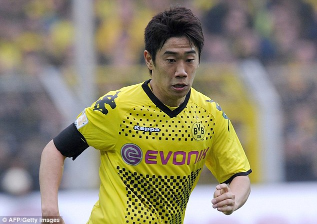 Successful spell: Shinji Kagawa was a key part of Borussia Dortmund's success while he was at the club