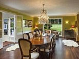 Dinner time: The house boasts plenty of space for entertaining