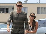 Back in the swing of things: Glee stars Lea Michele and Cory Montieth grab a bite together in West Hollywood