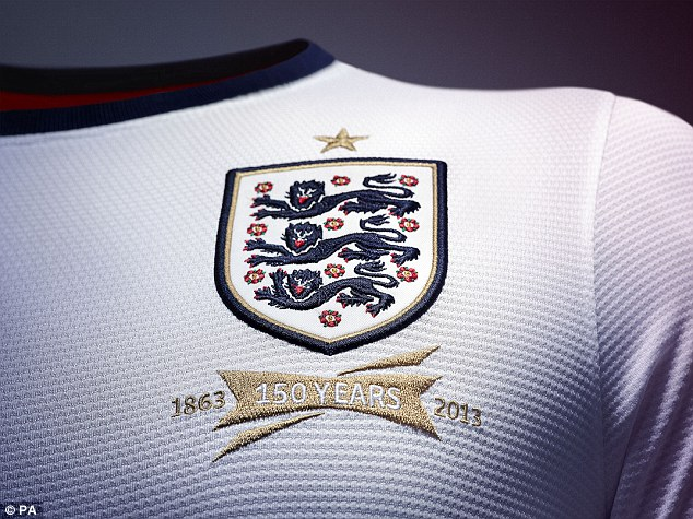 Anniversary: The new kit will be worn for the first time against the Republic of Ireland on Wednesday week