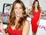 Easy, breezy, beautiful! Sofia Vergara heats up the Covergirl Summer Launch Party in a fiery, curve-hugging red dress