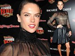 Not rocking! Alessandra Ambrosio makes a rare fashion misstep at Rolling Stone party