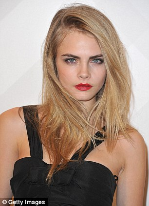 Burberry model: Cara Delevinge was unveiled earlier this year as the face of Burberry's beauty campaign