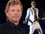Rocker warning: Jon Bon Jovi, 51, shown performing in Los Angeles in April, has issued an expletive-laced warning to Justin Bieber about disrespecting the fans