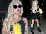 Lady GaGa spotted out and about, walking around in New York City on