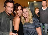 Bringing back the memories: Len Wiseman, Kate Beckinsale, Chelsea Handler, Hayden Panettiere and Wladimir Klitschko attended the Rolling Stones concert at the Staples Center in Los Angeles, California on Monday