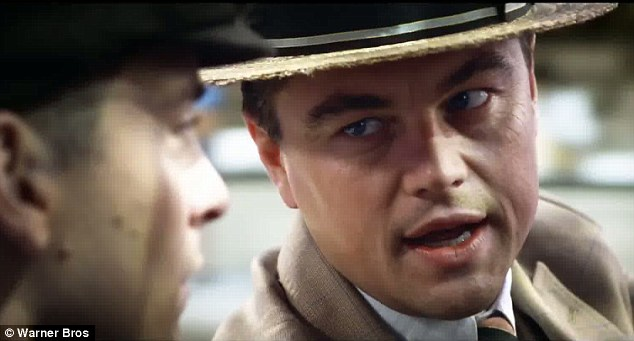What a life: Leonardo as Gatsby discusses his lavish life with Nick Carraway played by Tobey Maguire